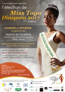 Affiche Election Miss Togo Diaspora 2017